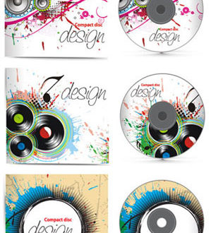 CD music cover vectors