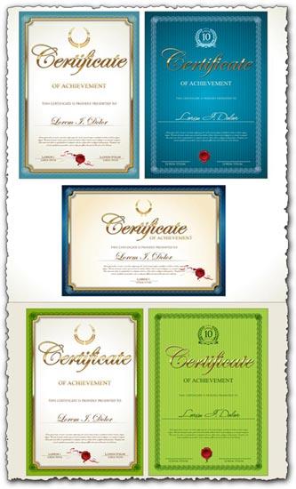 Certificate of achievement vector models