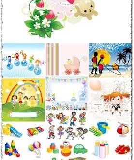 Children toys vectors