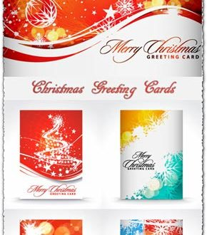 Christmas greetings vector card models