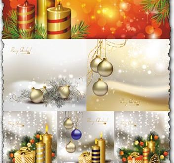 Christmas illustration cards vectors