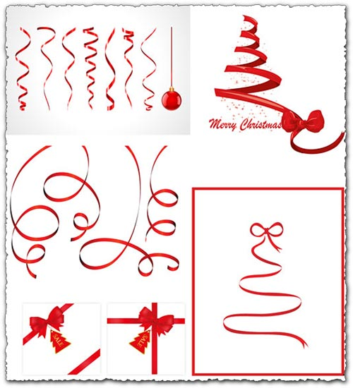 Christmas ribbons stock vectors