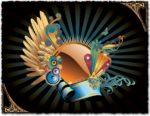 Floral circle banner vector design