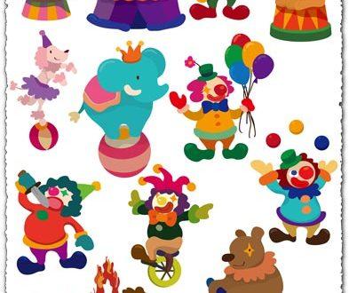 Circus show vector cliparts