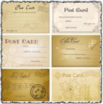 Classic postcards vectors