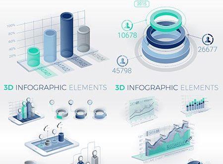 Clean corporate infographic vector bundle