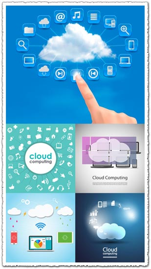 Cloud computing vector templates