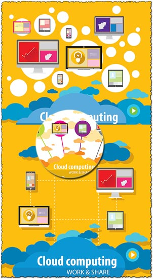 Cloud computing work and share vectors