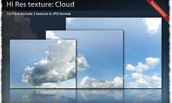Cloud texture templates