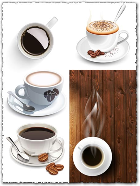 Coffee cups vector material