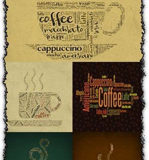 Coffee letters backgrounds
