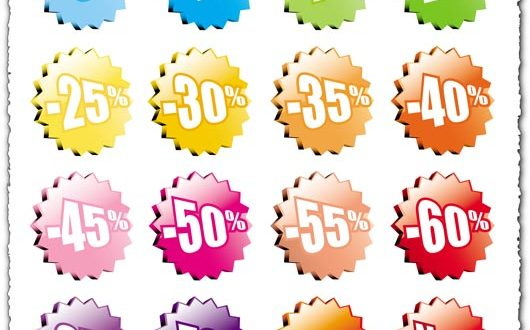 Colored 3D sale labels