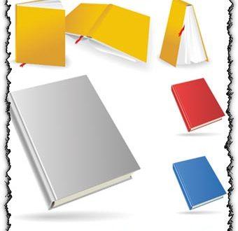 Colored books design vectors