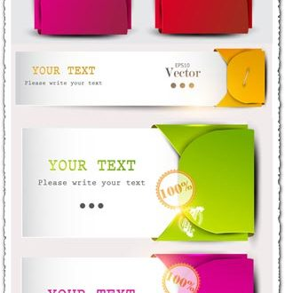Colored fashion banners vector