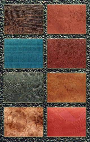 Colored grained textures