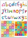 Colored school alphabet vectors