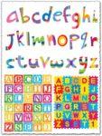 Colored school alphabet vectors