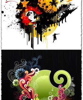 Colorful abstract background vectors