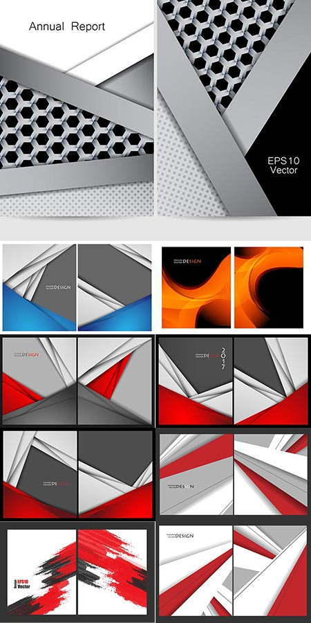 Colorful brochure covers vectors