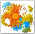 Colorful flower vector design