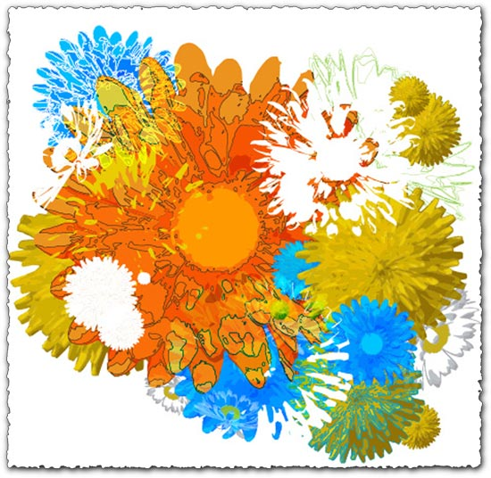 Colorful flower vector design
