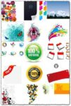Colorful labels stickers and stamps vectors