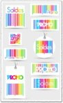 Colorful security code vector