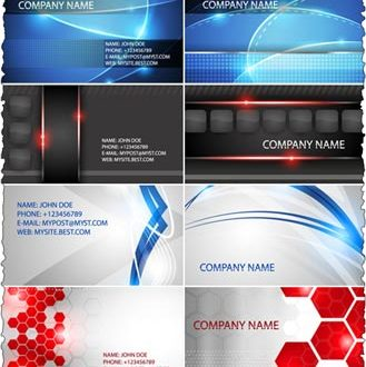 Companies business cards vector templates