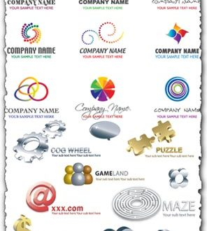 Company name vector logos
