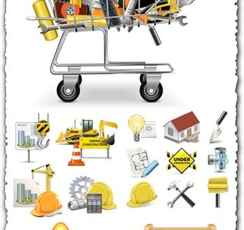 Construction logo vector icons