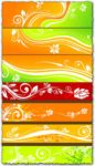 Vector banners with floral designs