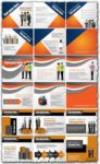 Corporate brochure design vector