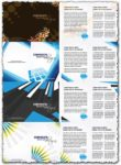 Corporate brochure vector templates