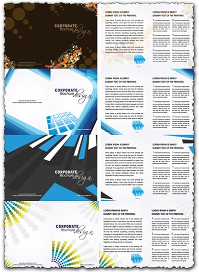 Corporate brochure vector templates
