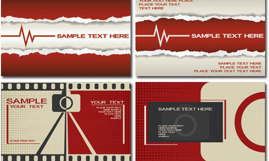 Corporate business cards vectors