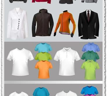 Costumes and tshirts vector materials