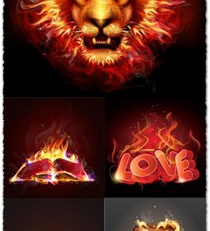 Creative fire vector effects