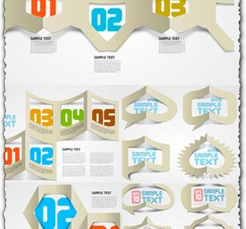 Creative folded papers vectors