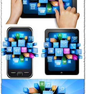 Creative internet technology vectors