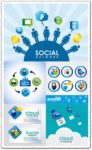 Creative social network vector cards