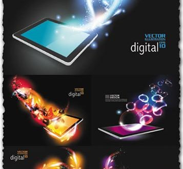 Creative tablet design vector