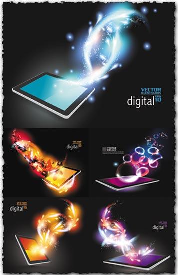 Creative tablet design vector