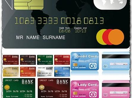 Credit card vector templates
