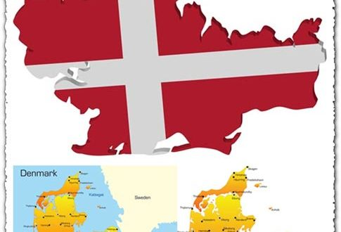 Denmark vector map