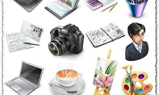 Designer portfolios psd icons