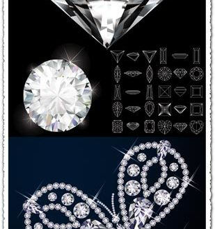 Diamond with geometric shapes vector