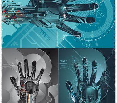 Digital hand vectors