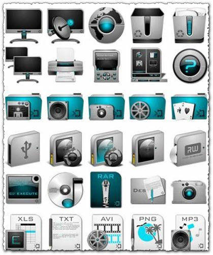 Digital media png icons