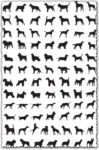 Dog silhouettes vector shapes