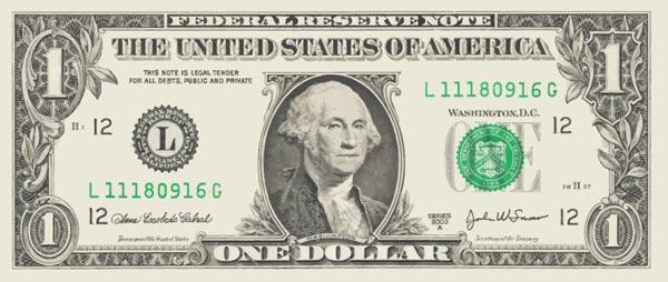 Dollar banknotes vectors